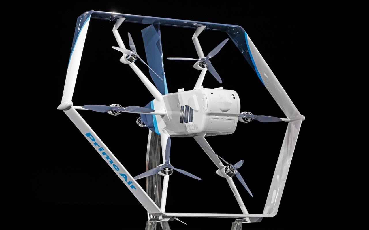 아마존의 새로운 디자인의 배달 드론 '프라임 에어(Prime Air)'