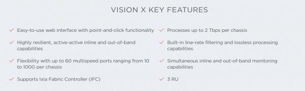 VISION X의 주요 기능